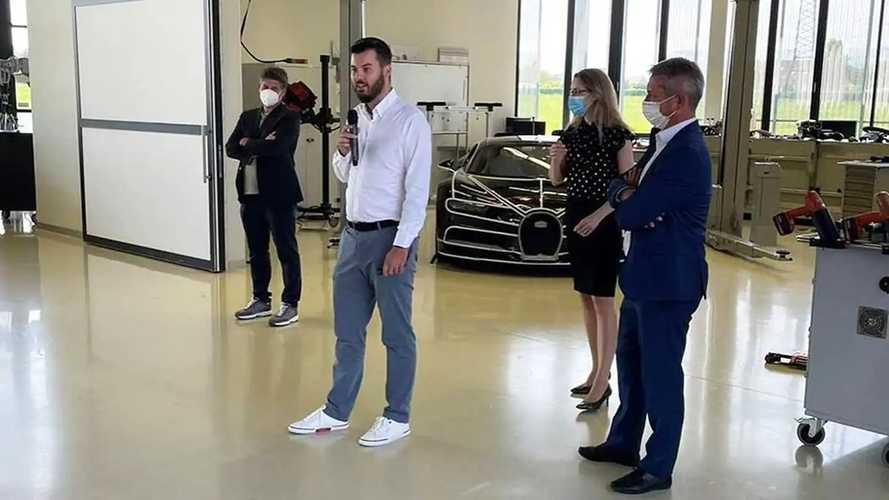Mate Rimac visita la sede Bugatti