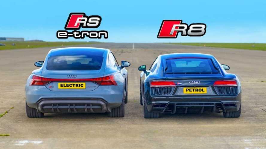 Audi RS E-Tron GT Meets R8 In Family EV Versus ICE Drag Race