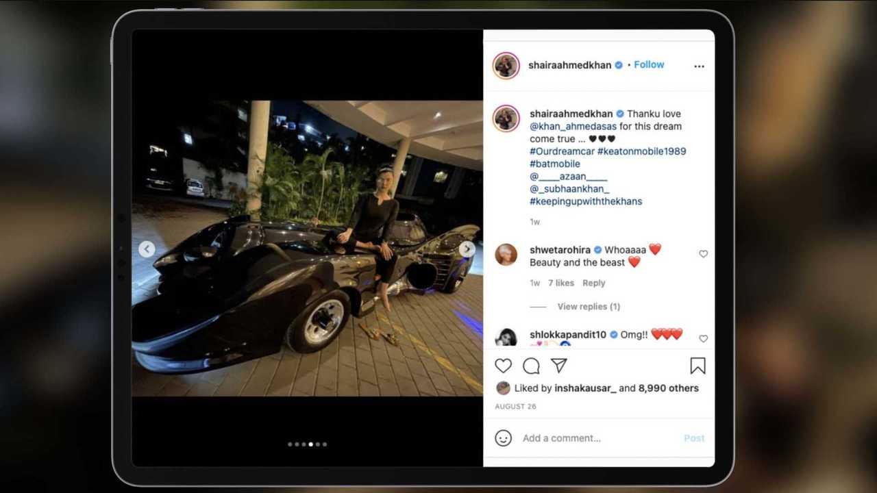 Istri sutradara Bollywood dapat kado Batmobile.