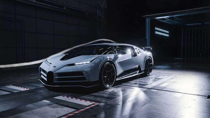 Посмотрите на тесты Bugatti Centodieci в аэродинамической трубе