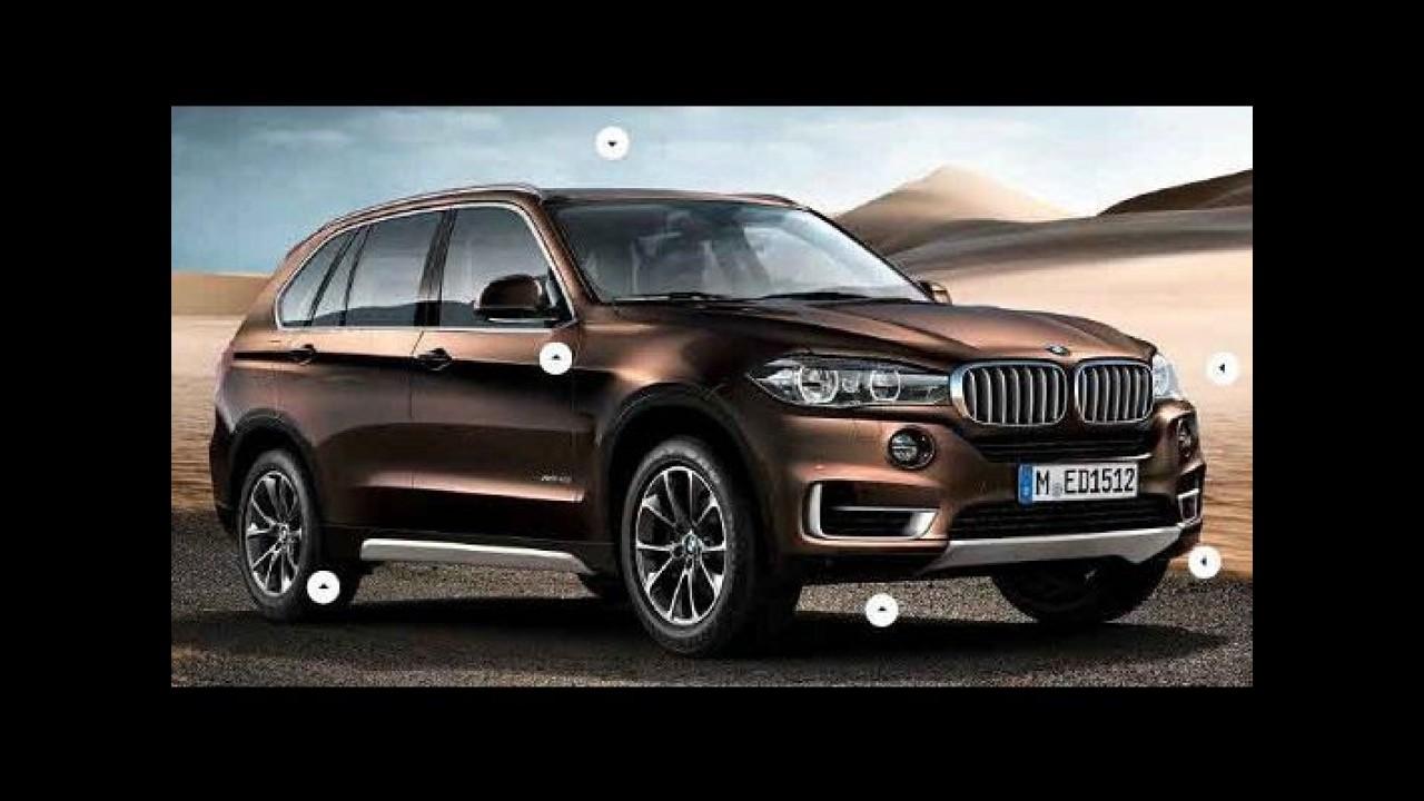 BMW apresentará nova geração do X5 no Salão de Frankfurt