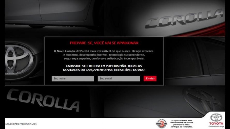 Toyota cria hotsite com teasers do novo Corolla