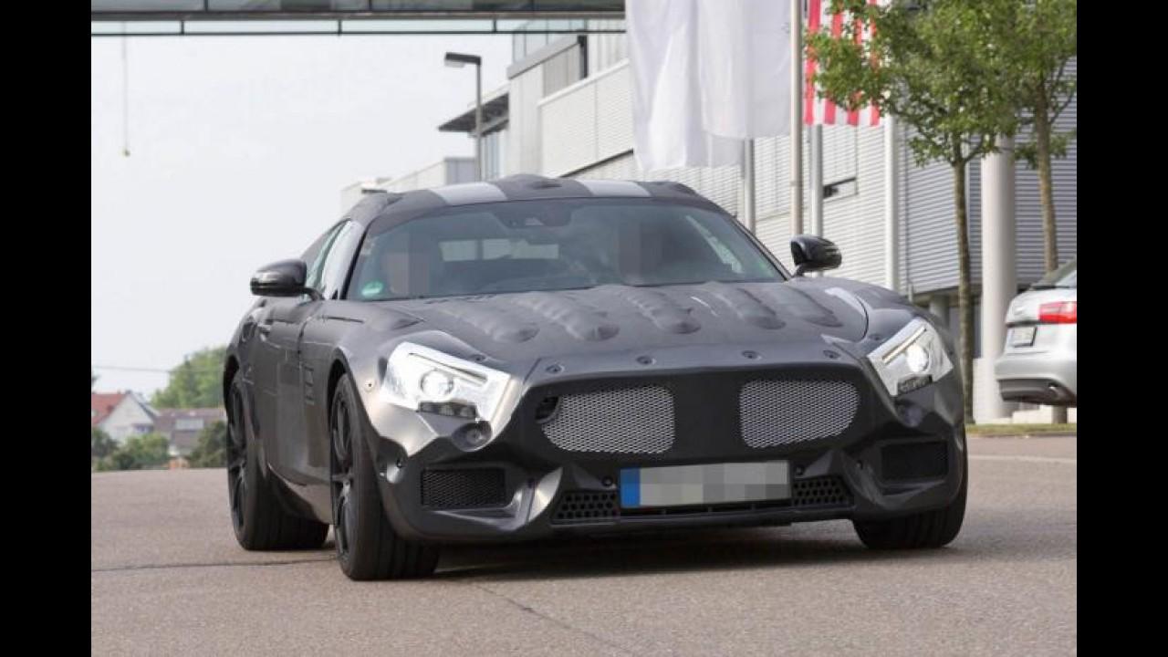 Flagra: Mercedes-Benz testa concorrente do Porsche 911