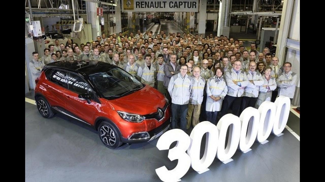 Sucesso: Renault comemora 300 mil Captur produzidos