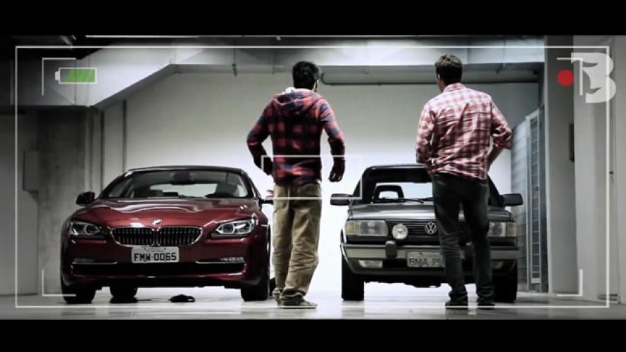 """Bufalos TV: Gol GTi """"ofusca"""" BMW 650i Coupé em """"GTi - o mito"""""""