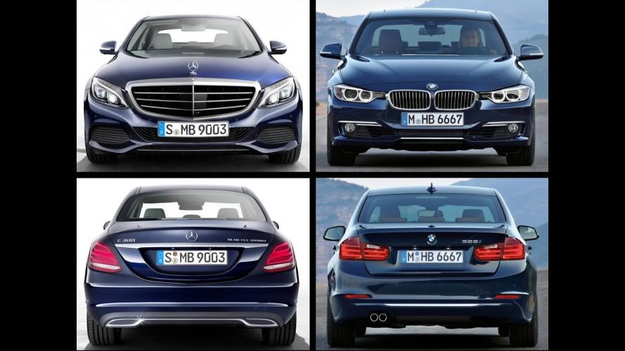 Alemanha: vendas de Mercedes Classe C e BMW Série 3 estão como Corolla e Civic aqui