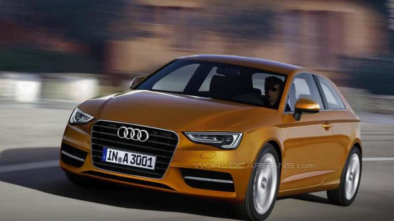 2013 Audi A3 hatchback rendering 04.02.2012
