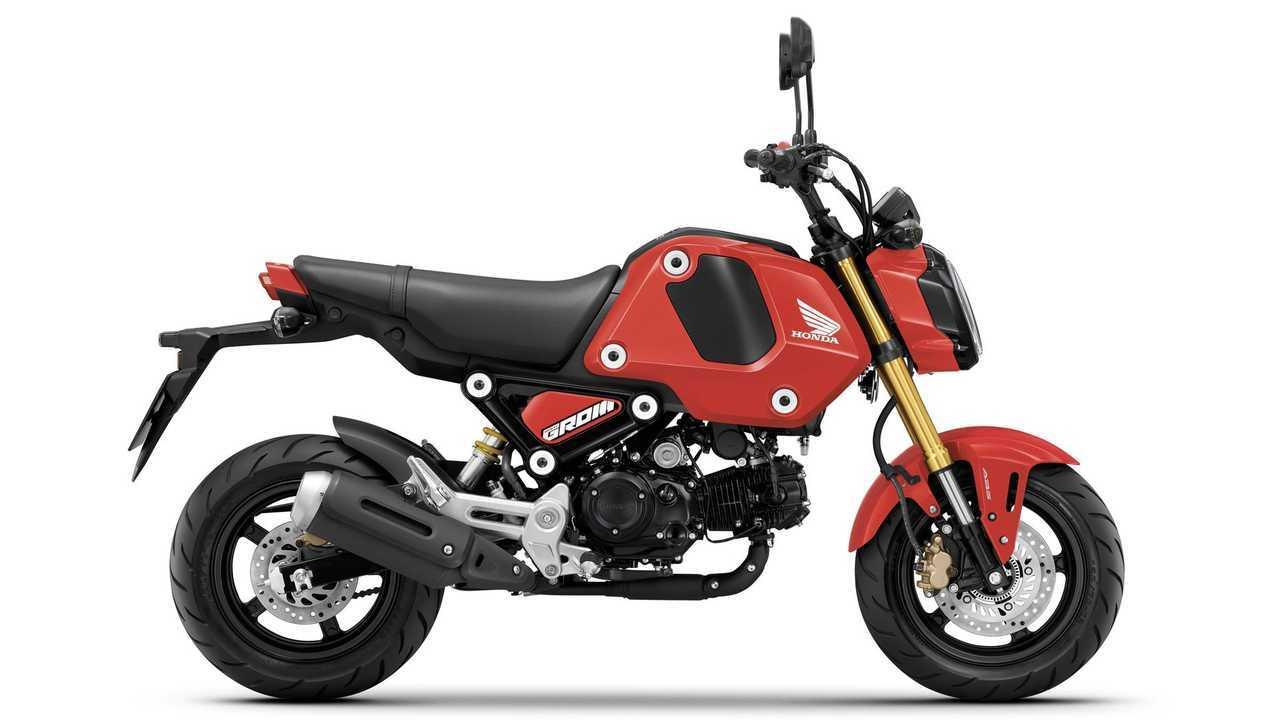 2021 Honda Grom, Gayety Red