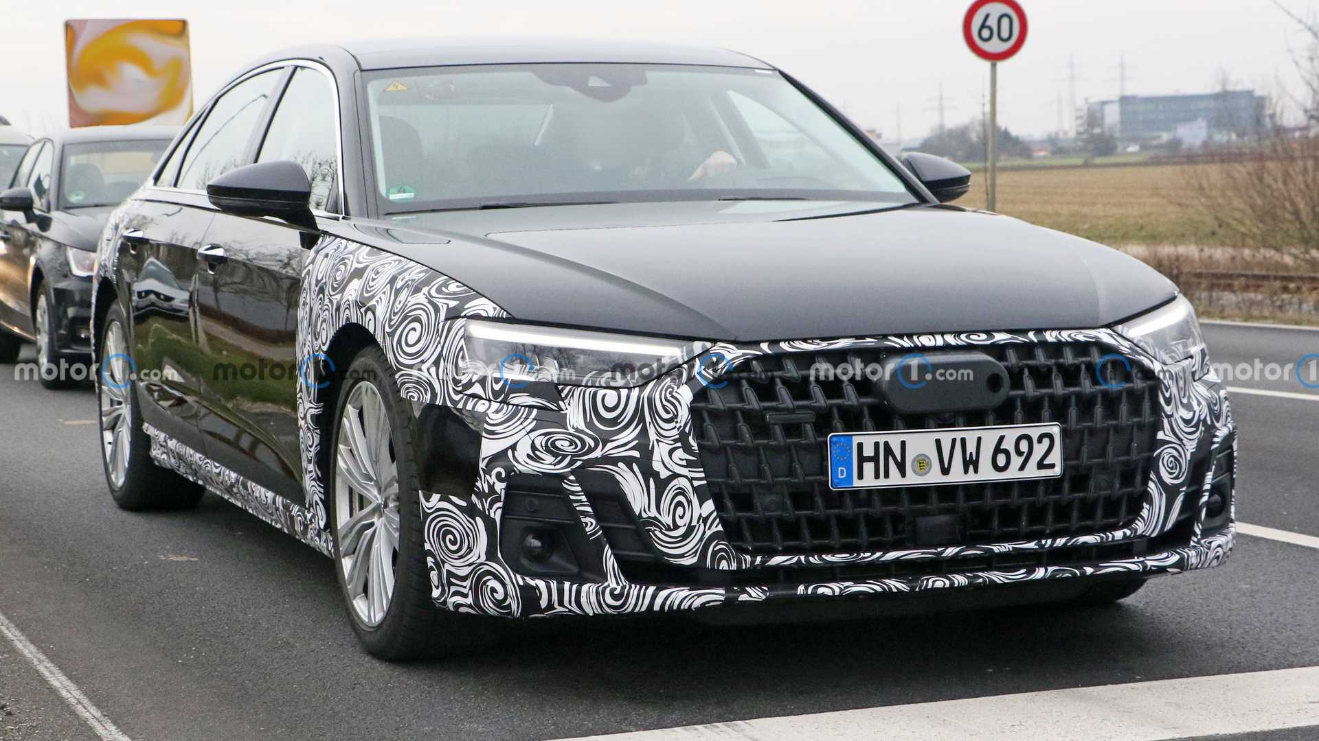 2022 Audi A8 Facelift Spied For The First Time