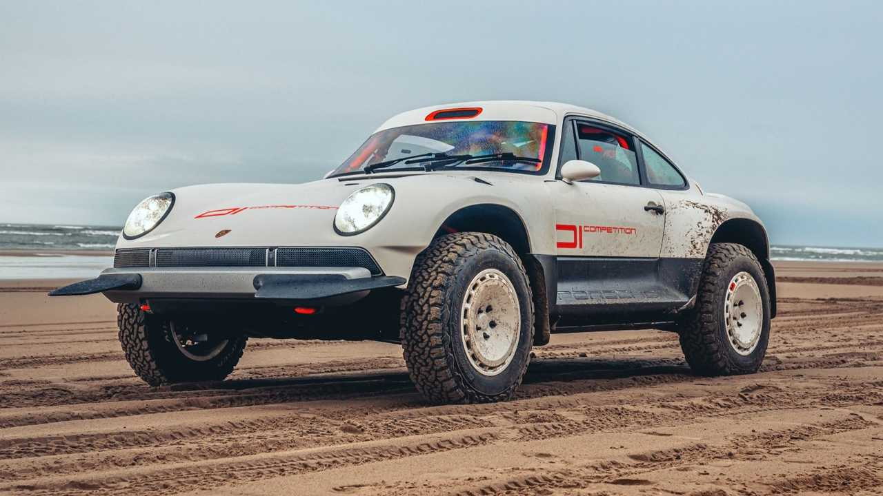 Singer All-Terrain Verseny Tanulmány Porsche 911 Safari Beach Lights On