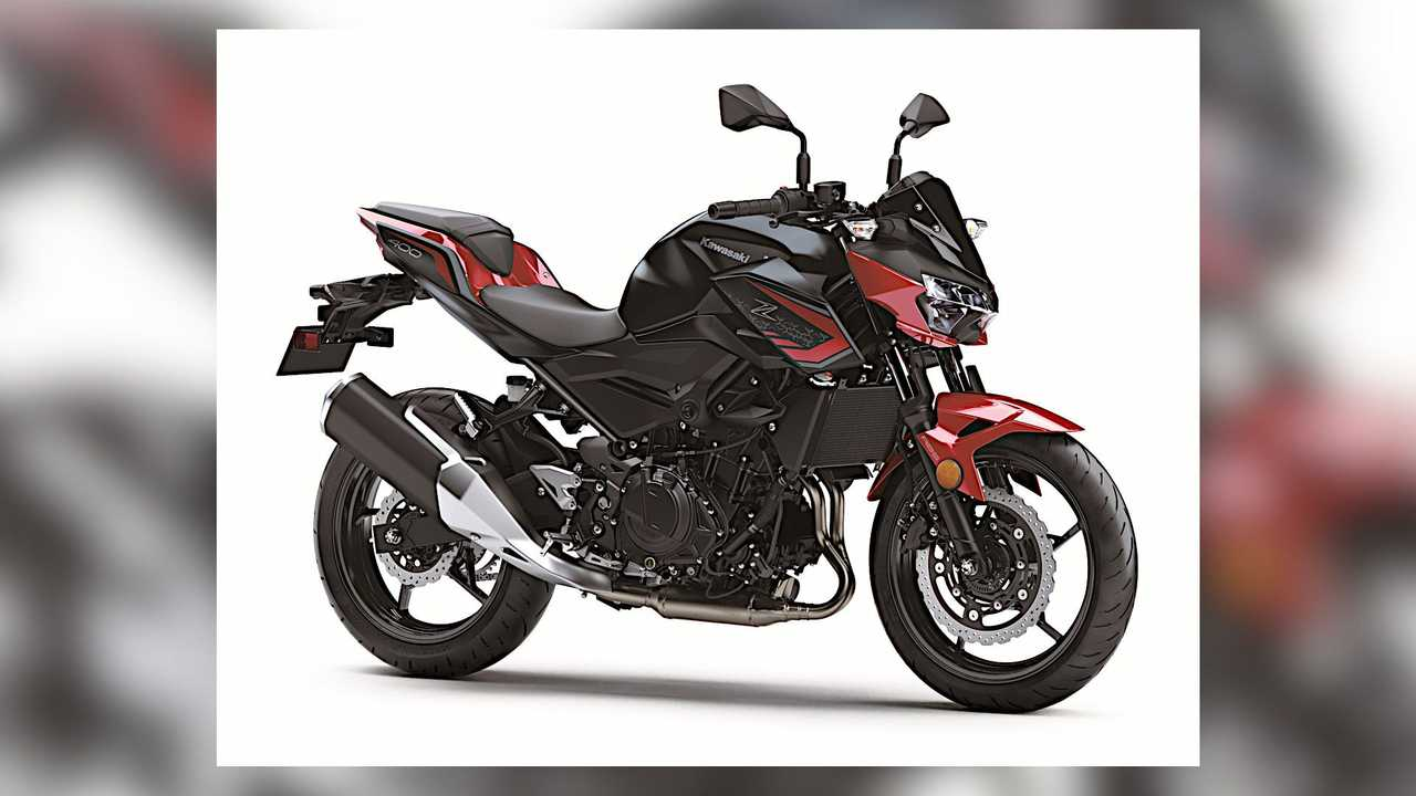 2021 Kawasaki Z400 ABS Red and Black Right Side