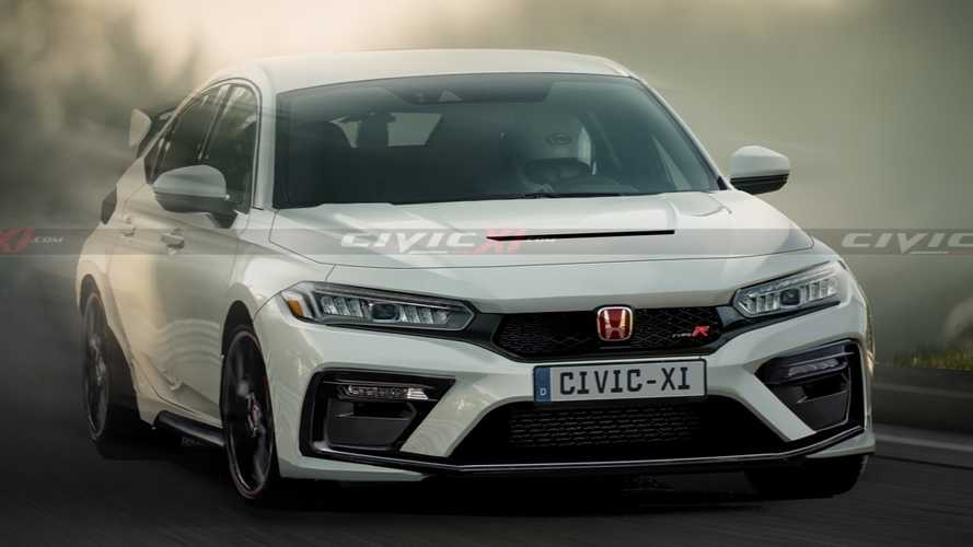 New Honda Civic Type R rendered after leaked patent images