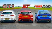 mk8 golf gti race ford focus st