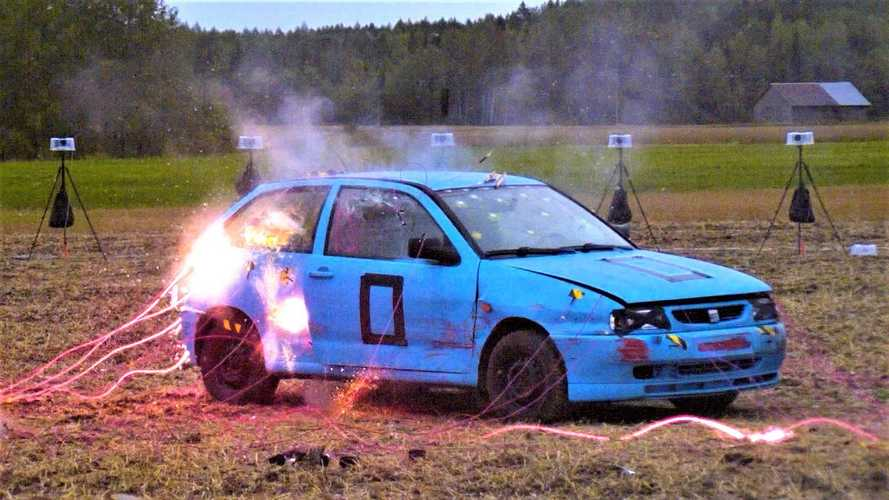 70 detonators used to blow up a Seat Ibiza for… reasons