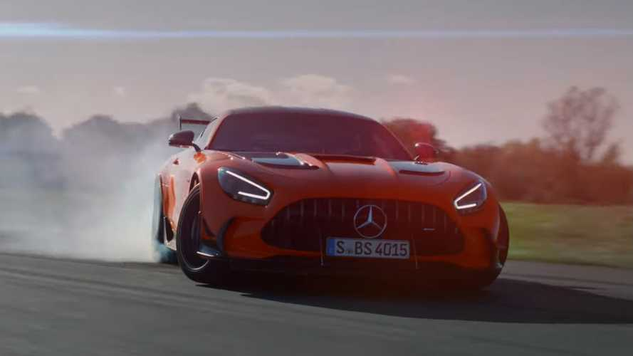 See Stig devour Mercedes-AMG GT Black Series tyres at Top Gear track