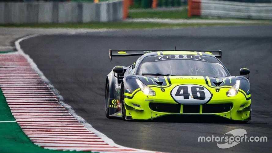 Valentino Rossi Uji Coba Mobil Ferrari 488 GT3 di Sirkuit Misano