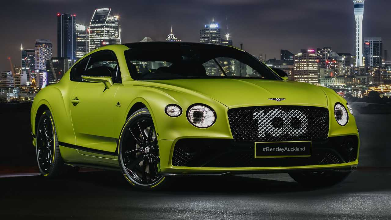 Bentley Pikes Peak Continental GT Limited Edition with Auckland skyline