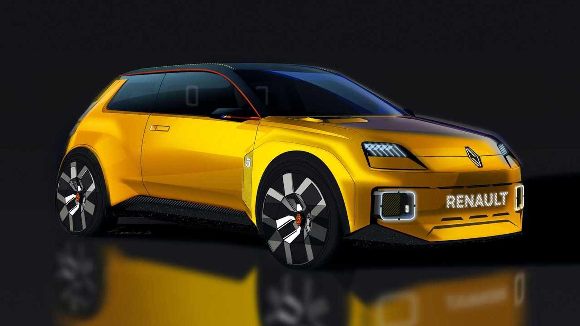 Renault 5 Electric Supermini в модернистском стиле