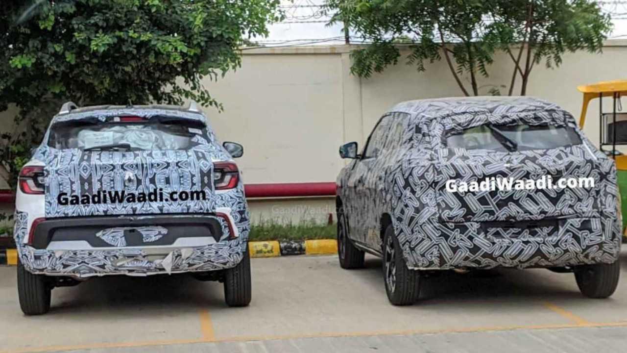 Flagra: Renault Kiger e Nissan Magnite