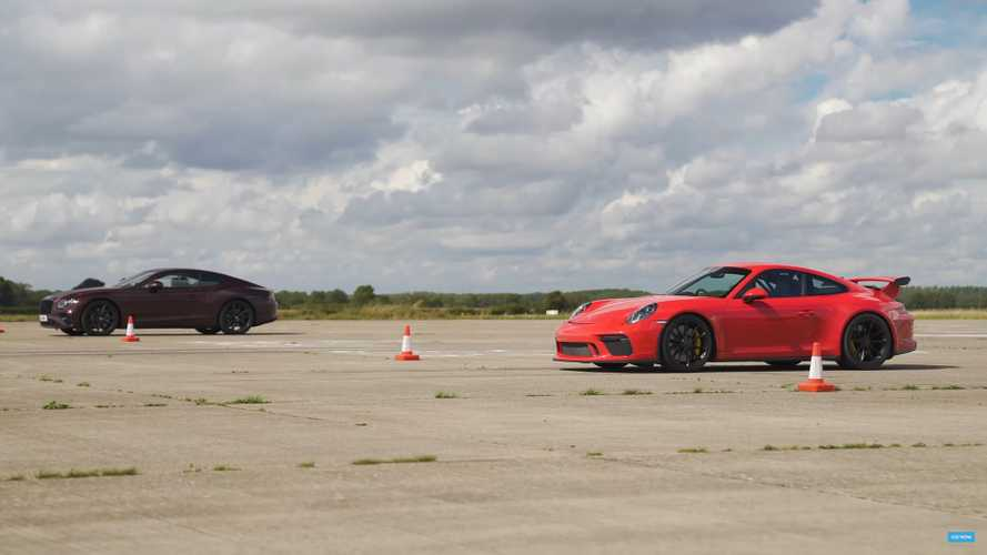 Bentley Continental GT vs Porsche 911 GT3 drag race will surprise you