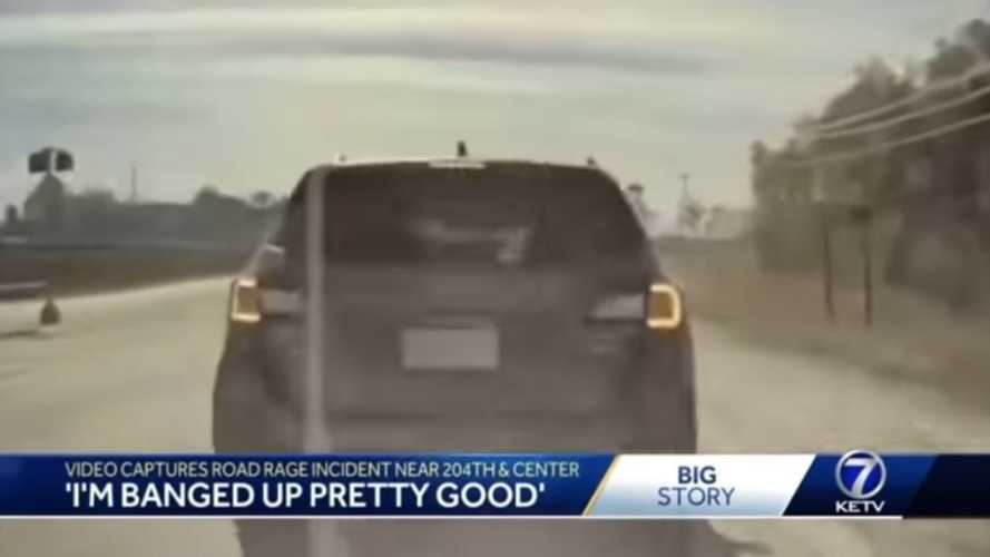 Check Out This Ridiculous Road Rage Accident Caught On TeslaCam