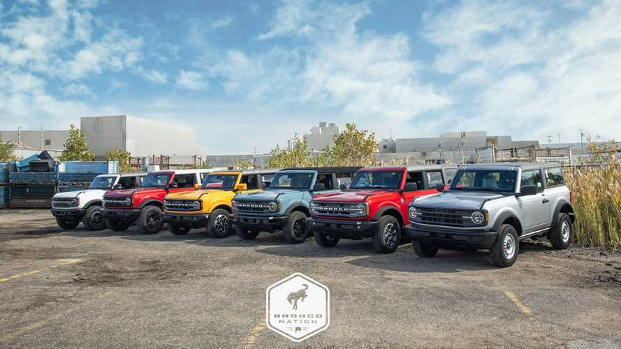 Ford Bronco Family Portrait