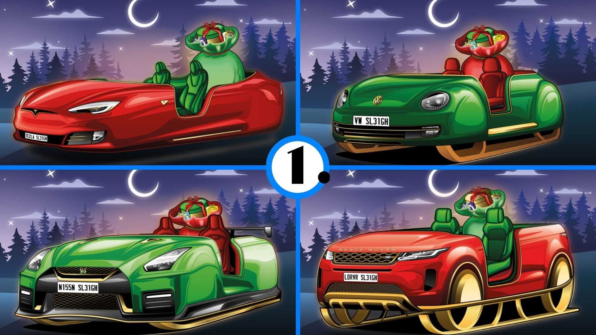 Santa's Sleigh If It Were Built By Different Automakers