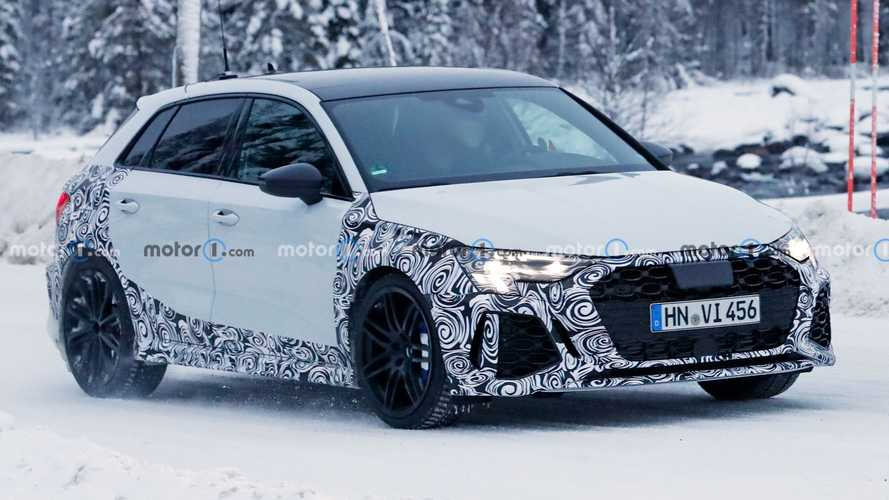 New Audi RS3 Sportback Spotted Winter Testing Again