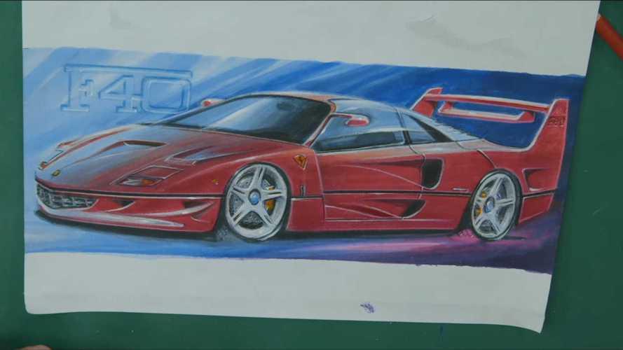 Бывший дизайнер Ferrari перерисовал F40 на современный лад