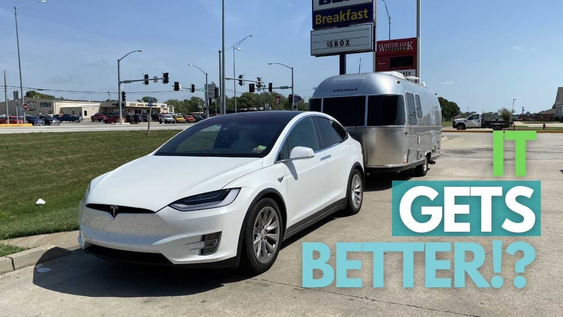 Tesla Model X Airstream Towing Part 2 Proves Many Variables Impact Range