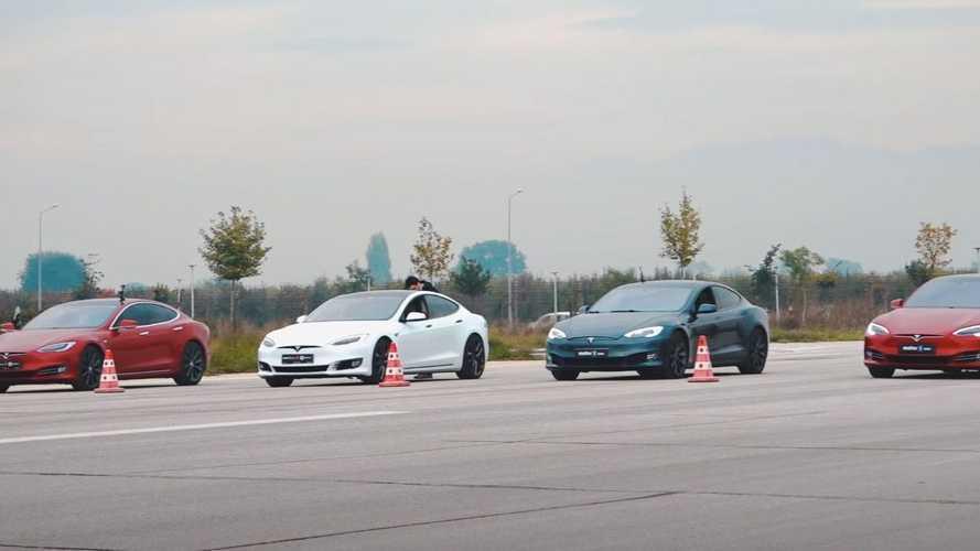 6 adet Tesla'nın Türkiye'de düzenlenmiş drag yarışını izleyin!