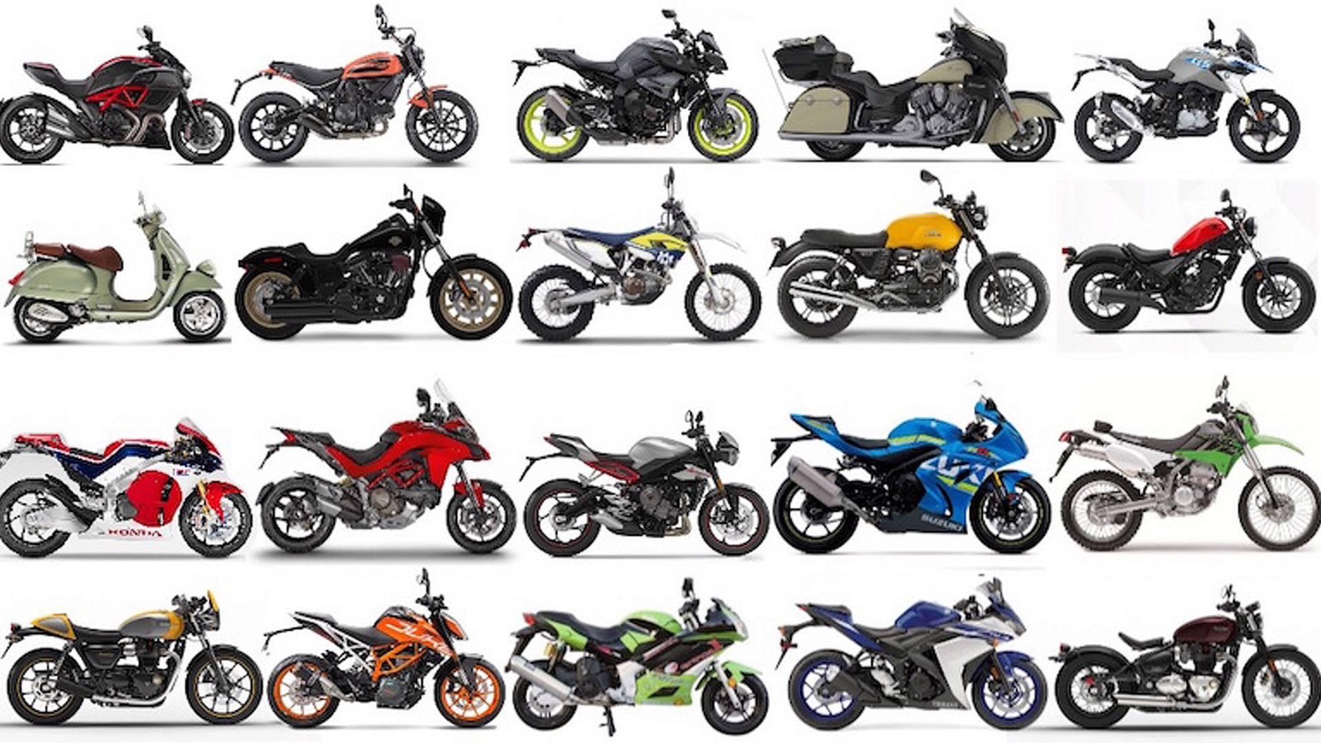 Image result for different kinds of motorcycles
