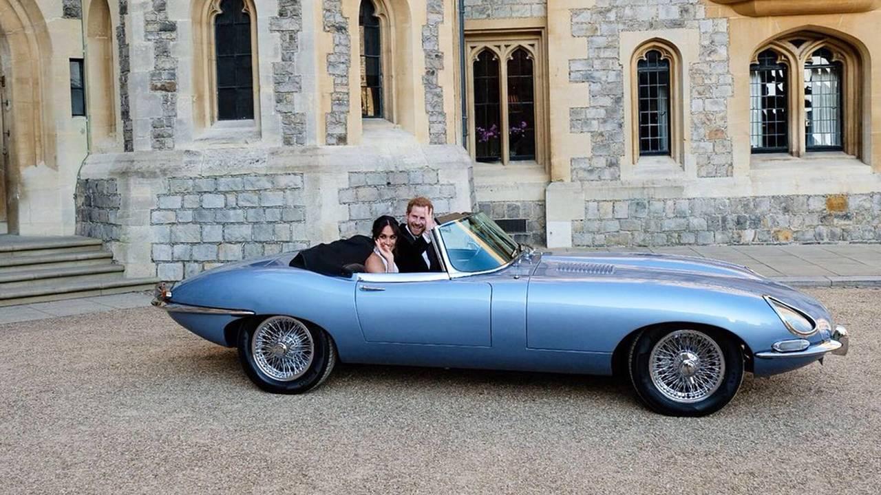Jaguar E-Type Zero al Royal Wedding