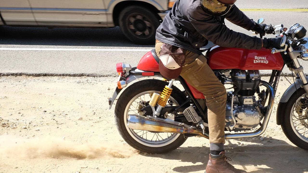 Living And Dying With The Royal Enfield Continental Gt Sr500e Yamaha Motorcycle Front Disc Brake Caliper Diagram Parts Burnouts In Dirt