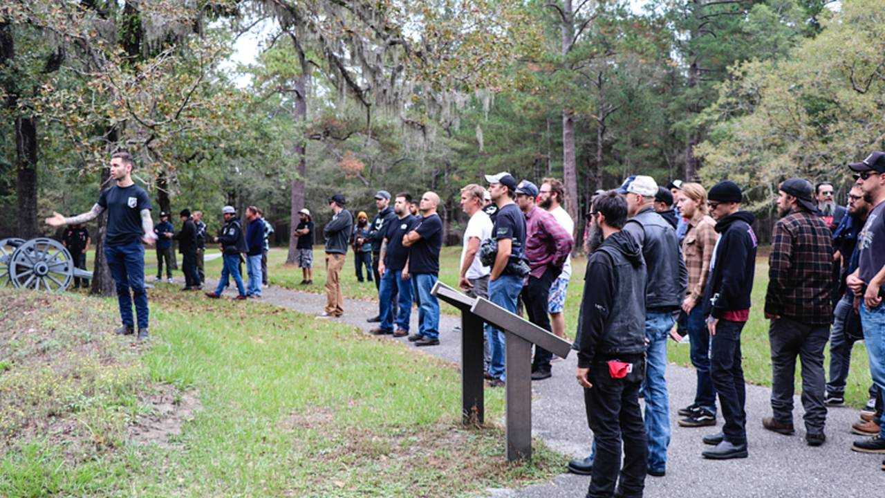 Guided tour of the Moores Creek battle ground.