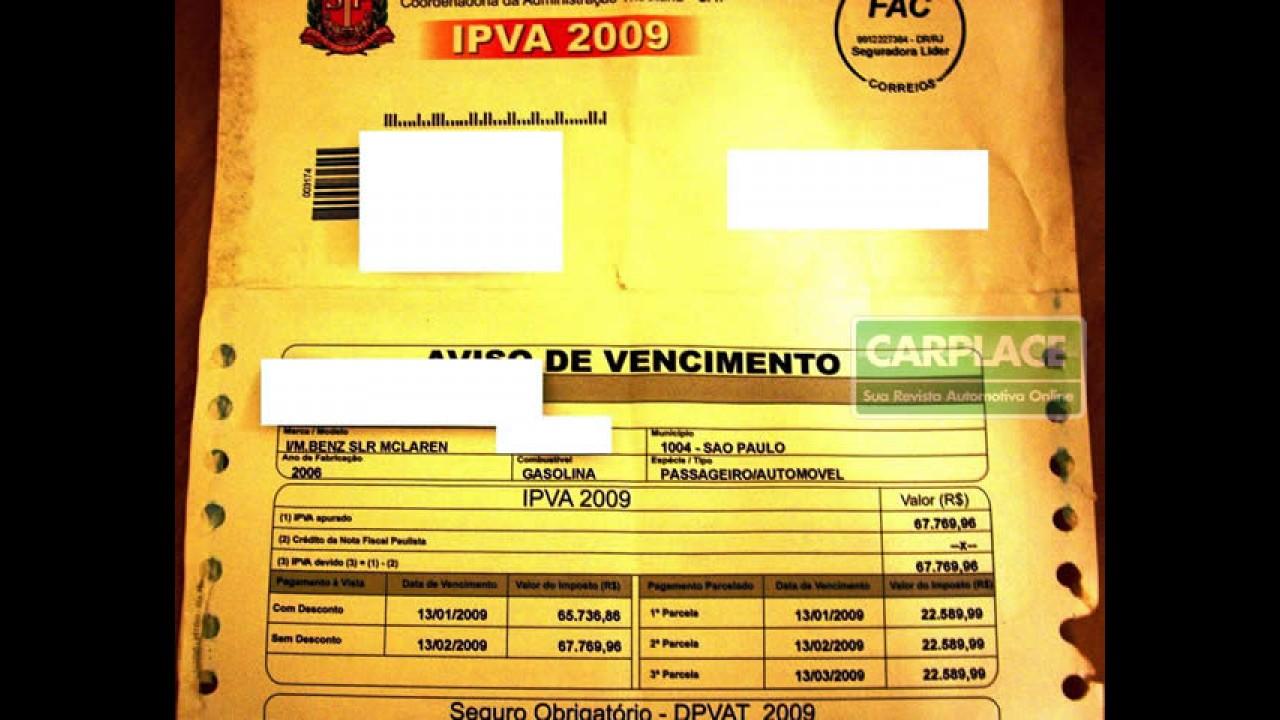 Governo de SP devolverá IPVA para motoristas de carros roubados