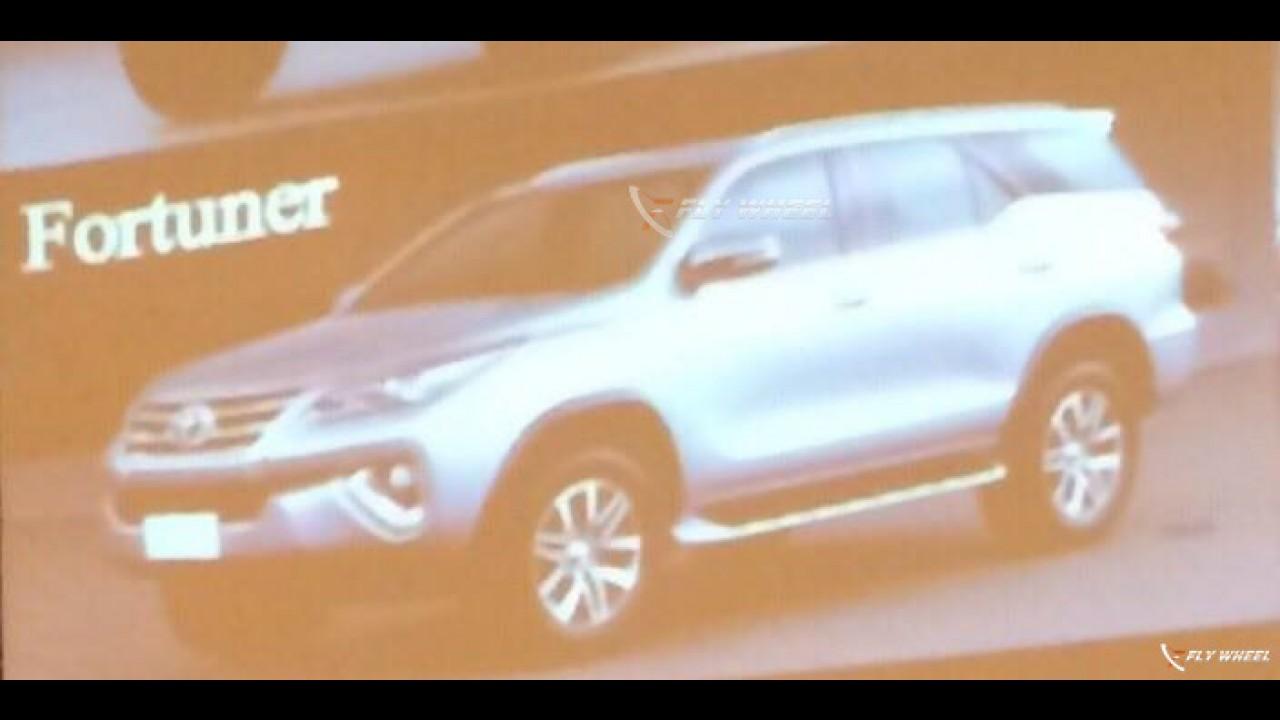 Vazou: Toyota SW4 2016 aparece sem disfarces antes da estreia