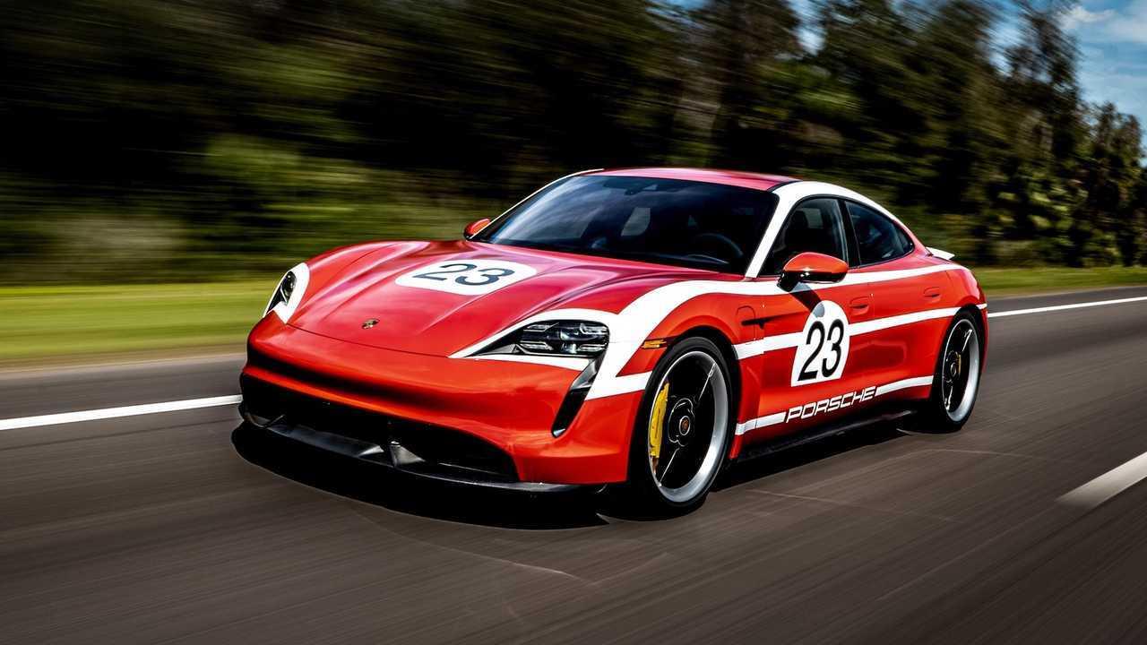 Porsche Taycan In Corse Livree Da Amelia Island Concours