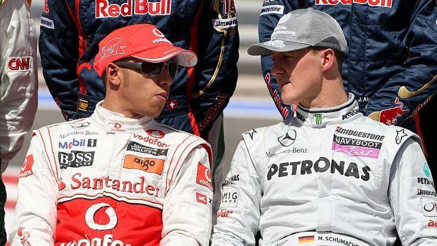 Schumacher profetizó que Hamilton podía alcanzarle... ¡en 2008!