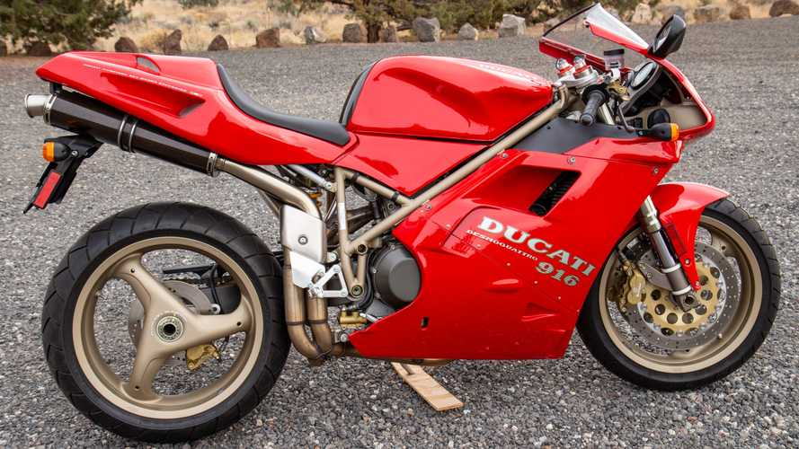 This 1997 Ducati 916S Monoposto Has Just 351 Miles