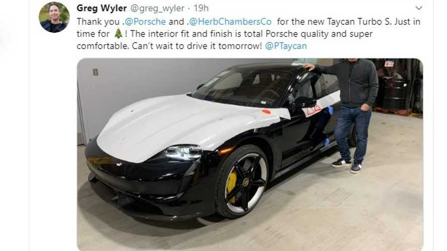 First Porsche Taycan Gets Delivered In The U.S.