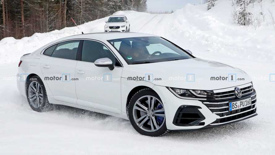 Volkswagen Arteon R Spied Mostly Unconcealed In The Snow