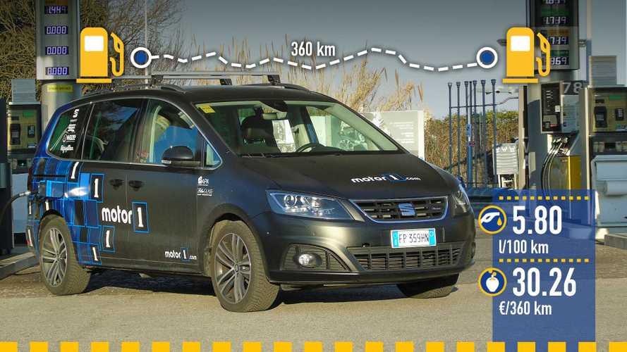 Seat Alhambra 2.0 diesel, la prova dei consumi reali