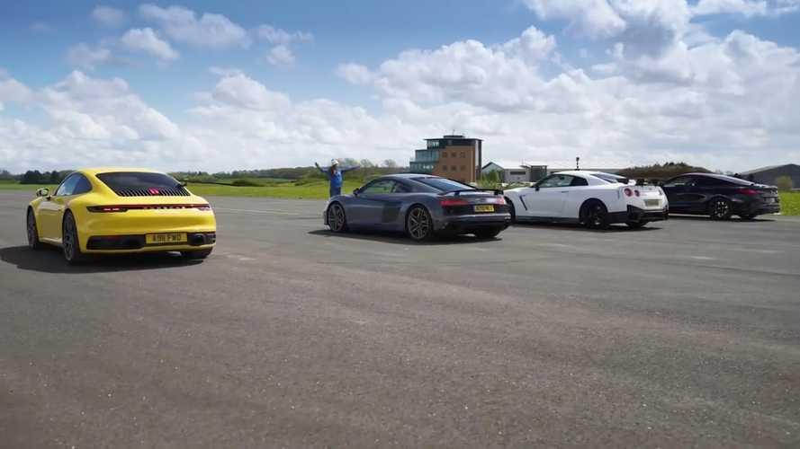 VIDÉO - L'Audi R8 affronte les GT-R Nismo, 911 Carrera 4S et M850i