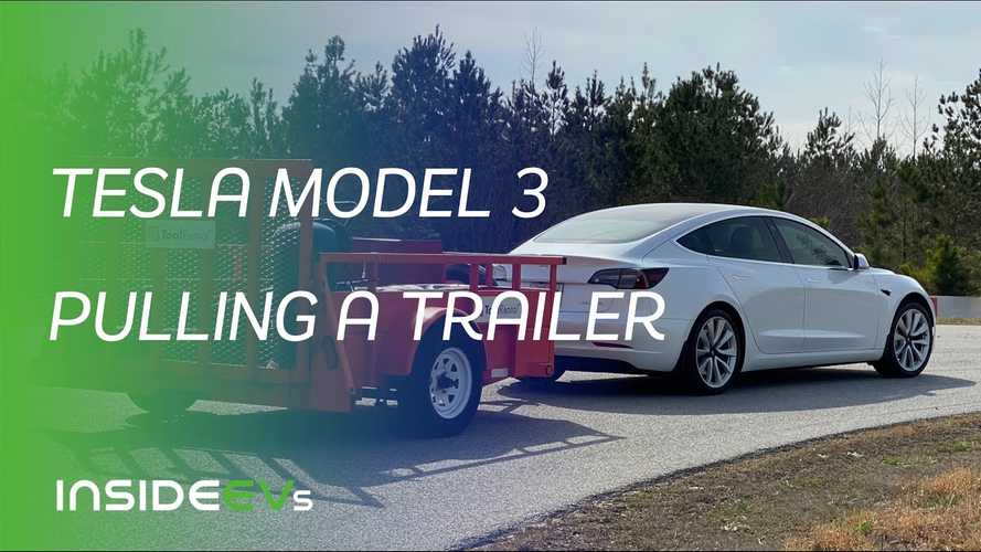 InsideEVs Tows With A Tesla Model 3: Consumption Is Insane