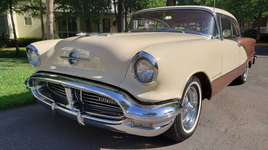 Take A Holiday In This 1956 Oldsmobile 98 Coupe