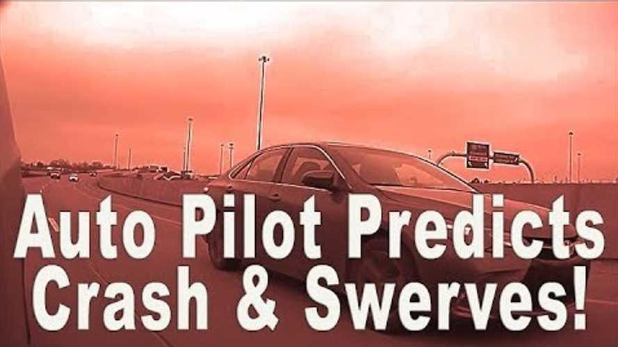 Watch This Tesla Model X On Autopilot Veer To Avoid A Crash