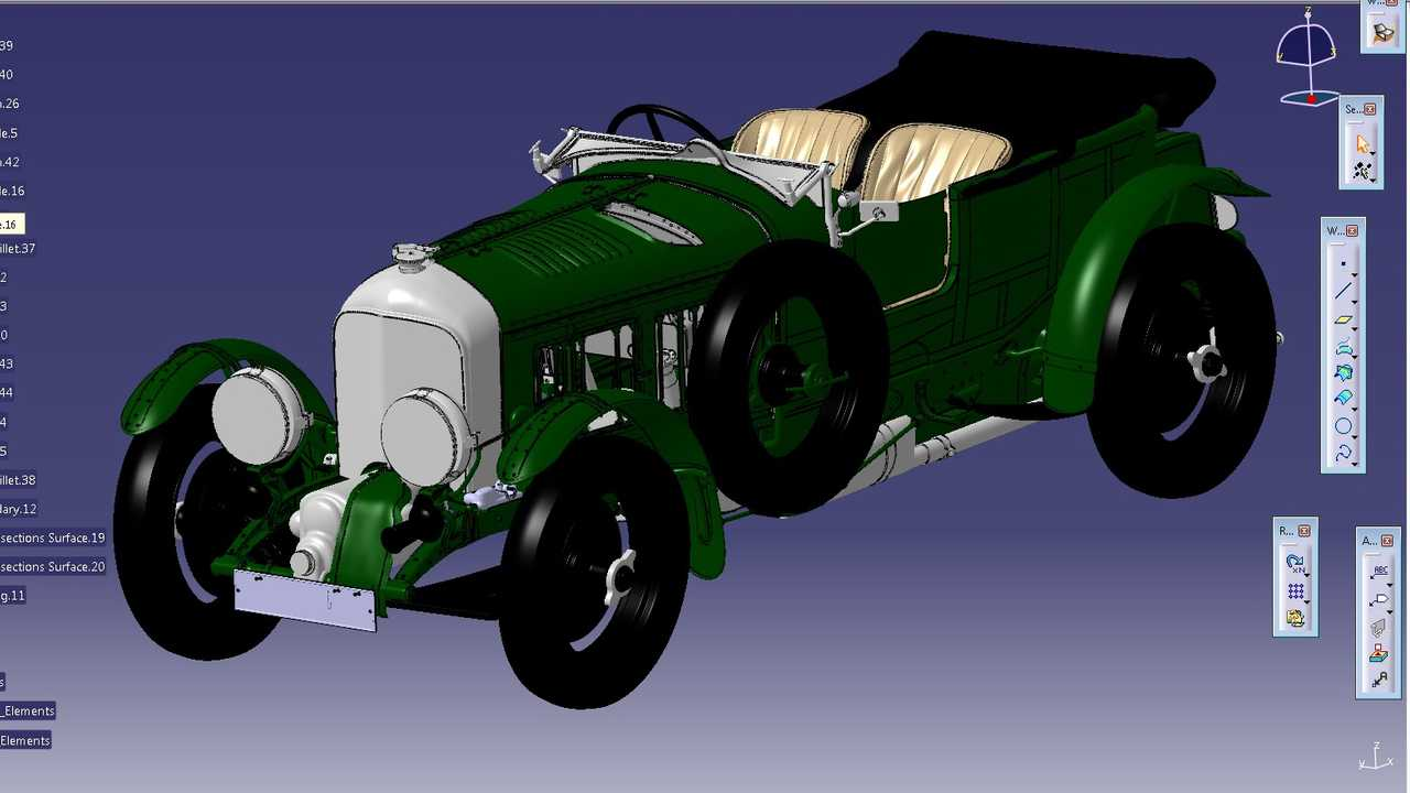 Bentley Blower Continuation: diseño 3D