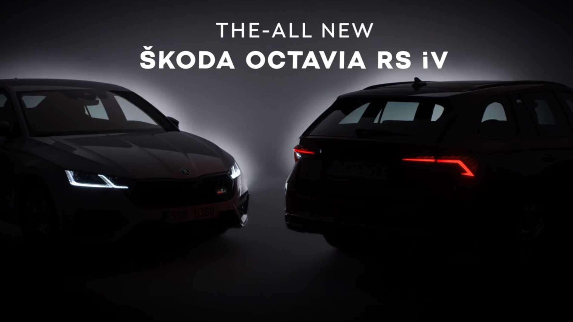 2021 Skoda Octavia Rs Iv Final Teaser Video Is Electrifying