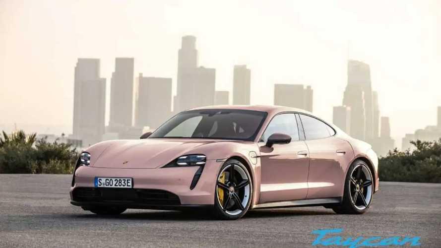 Porsche Taycan exterior colors